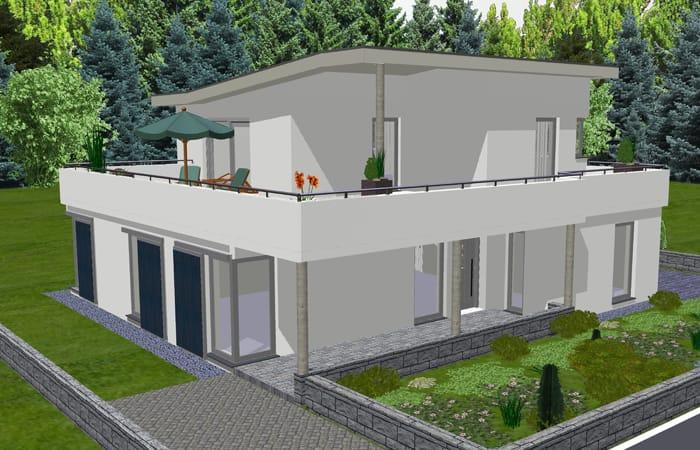 Lyra haus moderne villa mit pultdach for Modernes haus mit pultdach
