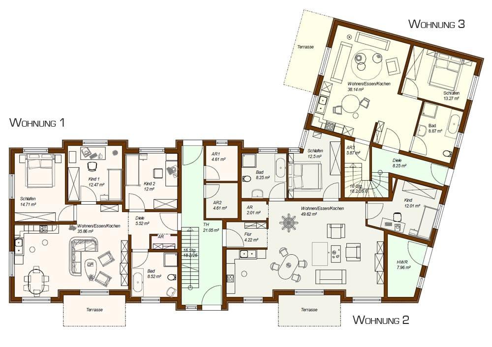 moderne grundrisse wohnungen beispiele moderne grundrisse wohnungen beispiele moderne. Black Bedroom Furniture Sets. Home Design Ideas